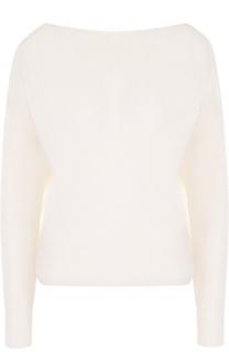 Пуловер с V-образным вырезом из смеси шелка и шерсти Forte_forte