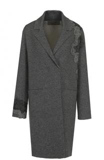 Пальто из смеси шерсти и кашемира с накладными карманами D.Exterior