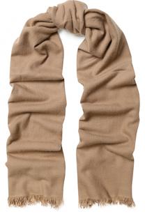 Кашемировый шарф с необработанным краем Escada Sport
