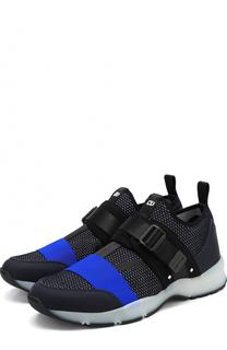 Текстильные кроссовки без шнуровки с ремешками Dior