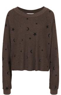 Пуловер свободного кроя с круглым вырезом и принтом Wildfox