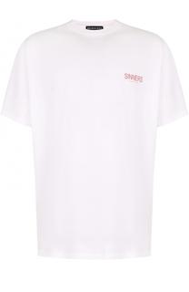 Хлопковая футболка с круглым вырезом Balenciaga