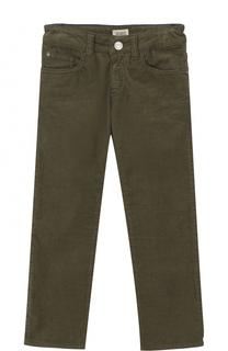 Вельветовые джинсы прямого кроя Armani Junior