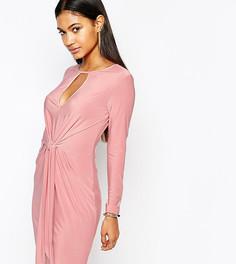 Платье мини с завязывающимся узлом Club L - Розовый
