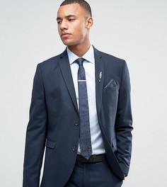 Темно-синий узкий премиум-пиджак Jack & Jones - Темно-синий