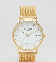 Золотистые часы с сетчатым браслетом Reclaimed Vintage Inspired эксклюзивно для ASOS - Золотой