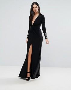 Черное платье макси Forever Unique - Черный