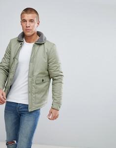 Куртка с воротником из искусственного меха Another Influence - Зеленый