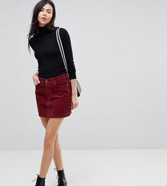 Вельветовая мини-юбка ягодного цвета ASOS TALL - Красный