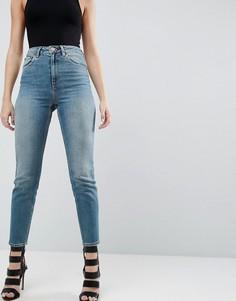 Джинсы в винтажном стиле с завышенной талией ASOS FARLEIGH - Синий