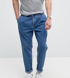 Светло-синие джинсы прямого кроя с двойными защипами Noak - Синий