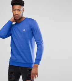 Меланжевый свитер с круглым вырезом Le Breve TALL - Темно-синий