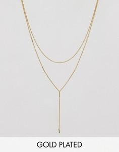 Позолоченное двухъярусное ожерелье Gorjana - Золотой