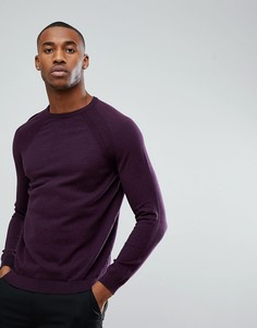 Фиолетовый джемпер с круглым вырезом Burton Menswear - Фиолетовый