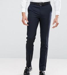 Однотонные эластичные брюки узкого кроя Harry Brown TALL - Темно-синий