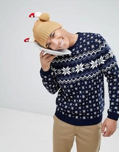 Рождественский джемпер со снежинками ASOS - Мульти