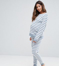 Свитшот и джоггеры в полоску ASOS Maternity LOUNGE - Серый