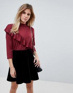 Блузка с оборкой b.Young - Красный