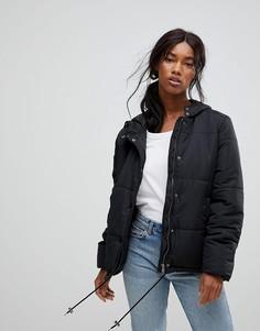 Короткая дутая куртка b.Young - Черный