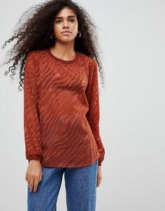 Блузка с выжженным эффектом b.Young - Красный