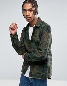 Рубашка-куртка с камуфляжным принтом Carhartt WIP Anson - Зеленый