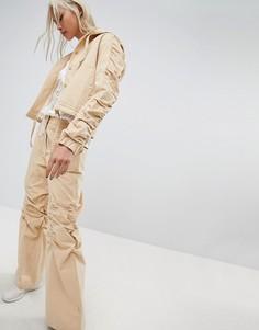 Широкие брюки со сборками на коленях Maharishi - Рыжий