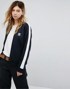 Спортивная куртка на молнии с полосками Cahartt WIP Beta - Черный