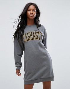 Свободное платье-свитшот с логотипом Carhartt WIP - Серый