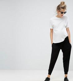 Трикотажные широкие брюки ASOS Maternity - Черный