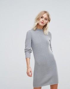 Вязаное платье мини Esprit - Серый
