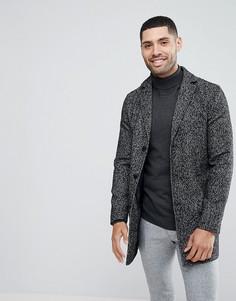 Фактурное пальто Stanley Adams - Черный