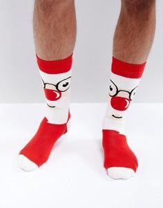 Новогодние носки-слиперы с Сантой Urban Eccentric - Мульти