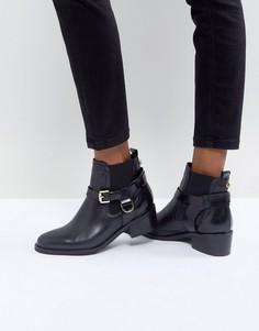 Кожаные ботинки с пряжкой Carvela - Черный