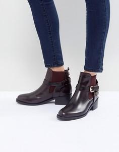 Кожаные ботинки с пряжкой Carvela - Красный