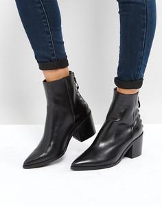 Полусапожки на каблуке с молнией сзади Carvela - Черный