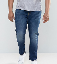 Темные узкие джинсы River Island PLUS - Синий