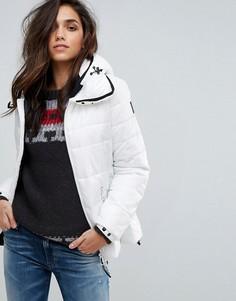 Дутая куртка с капюшоном Replay - Кремовый