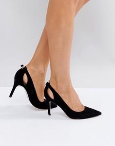 Туфли на высоком каблуке с острым носом Miss KG - Черный