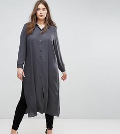 Длинная рубашка темно-серого цвета Elvi - Серый