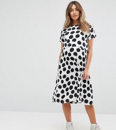 Двухслойное платье в горошек ASOS Maternity NURSING - Белый