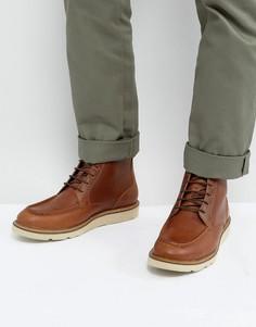 Коричневые кожаные ботинки на шнуровке Dead Vintage - Черный