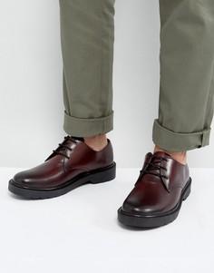 Кожаные бордовые туфли дерби Dead Vintage - Красный