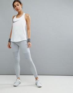 Серые леггинсы Nike Running Power - Серый