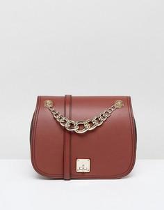 Светло-коричневая сумка с цепочкой Fiorelli - Рыжий