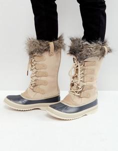 Бежевые водонепроницаемые замшевые ботинки Sorel Joan Of Arctic - Бежевый