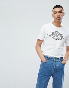 Белая футболка с принтом крыльев и логотипом Nike Jordan 908015-100 - Белый