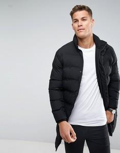 Длинная дутая куртка Selected Homme - Черный
