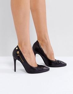 Туфли на высоком каблуке с сердечком Love Moschino - Черный