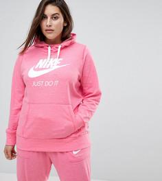 Худи розового цвета в спортивном стиле Nike Plus - Розовый