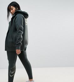 Зеленые леггинсы с логотипом металлик Nike Plus - Зеленый